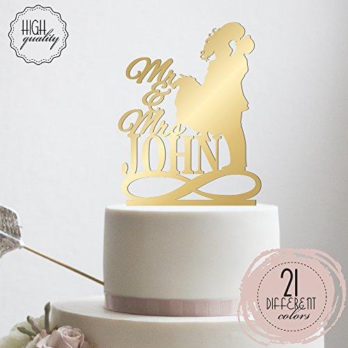 Amazon Mr Mrs Infinity Symbol Personalized Wedding Cake