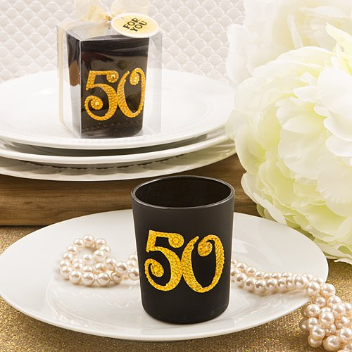 Big Fifty 50Th Birthday - 50Th Anniversary Candle Votive , 24