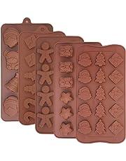 FineGood - Moldes de silicona para chocolate, 5 unidades