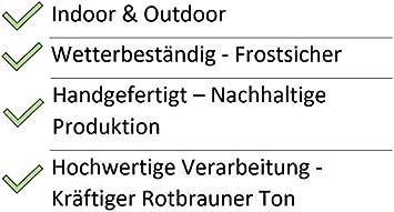 Rostige Gartens/äule Willkommen f/ür den Eingangsbereich Dekos/äule: H/öhe 100cm // Breite 33cm Metall//Edelrost//Rost Wetterfest /& Frostsicher Rosts/äule//Au/ßendekoration Eingang