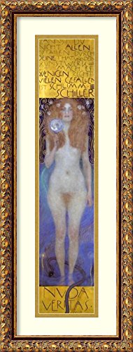 Framed Art Print 'Nuda Veritas 1899' by Gustav Klimt