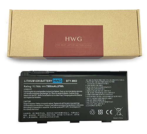 Msi Model (HWG BTY-M6D Battery ( 9-Cell) for MSI GT60 GX60 GT70 GT660 GX660 GT680 GX680 GT780 GT780R GT663R GT660R GT680DXR GT680DX Series Laptop (11.1V 87WH))