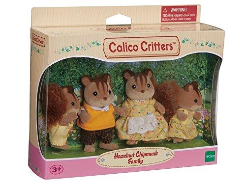 Calico Critters Hazelnut Chipmunk Family