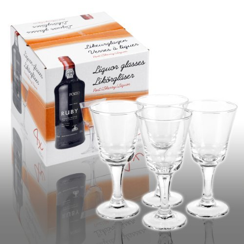 Set Of 4 80ml Liqueur Glasses by Panorama Gifts