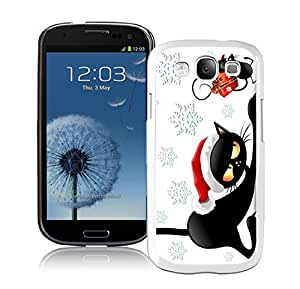 Personalized Christmas White Cat With Mouse White TPU Samsung Galaxy S3 Case,Case For Samsung I9300