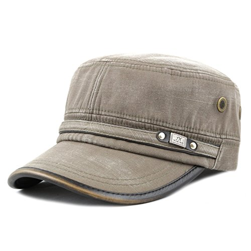 Military Cap Hat Olive (The Hat Depot 200h5149 High Quality Washed Cotton Cadet Cap)