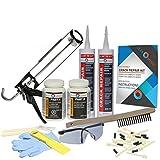 Complete Drill Crack Repair Kit - 1/16'' to 1/2'' Wide Cracks (DIY FLEXKIT-102-COM)