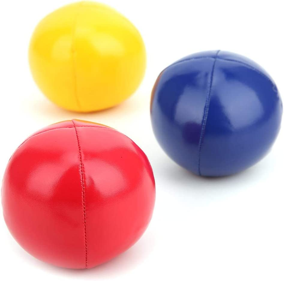 Girls Juggling Balls Set 3 Pieces Juggling Ball Set Creative Funny Educational Juggling Balls Ideal for Boys Indoor Sports Ball Ball Made of PU Leather with mesh Bag