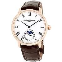 Frederique Constant Silver Dial Leather Strap Men's Watch FC-705WR4S4