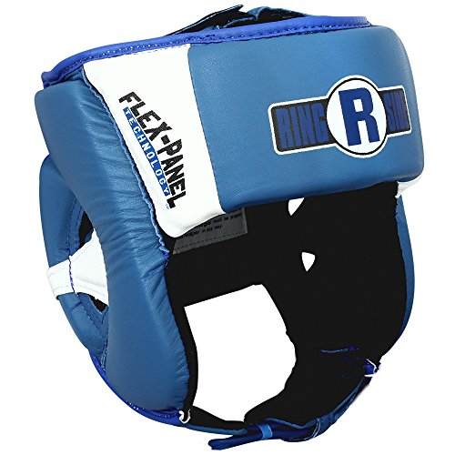 (Ringside Cheekless Elite Amateur Competition Headgear, Blue/White, Large/Medium)