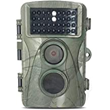 Hunting Trail Camera,Woopower Waterproof Outdoor H3 720P Detection Non Flash Hunting Camera Infrared Anti Theft Video Camera Trail Camera Game Wildlife IR PIR Motion Detection 0.6S Trigger Time