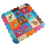 Menu Life ML-009 Musical Instruments Soft Foam Play Mat Interlocking EVA Soft Jigsaw Puzzle Foam Baby Child Play Area Yoga Exercise Mats (30 x 30 x 1cm, 9pcs Play Mats with Fences)