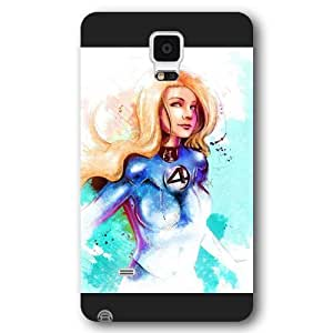 UniqueBox Customized Marvel Series Case for Samsung Galaxy Note 4, Marvel Comic Hero Invisible Woman Samsung Galaxy Note 4 Case, Only Fit for Samsung Galaxy Note 4 (Black Frosted Case)
