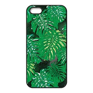 iPhone 5 5s Cell Phone Case Black Summer Leafs TR2223945