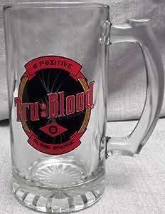 TRUE BLOOD Logo 16 oz Glass Beer Stein MUG
