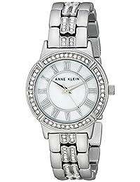 Anne Klein Women's AK/2019MPSV Swarovski Crystal Accented Silver-Tone Bracelet Watch