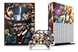 Cheap Designer Skin Sticker for the XBOX ONE S Console With Two Wireless Controller Decals – Mad Hatter