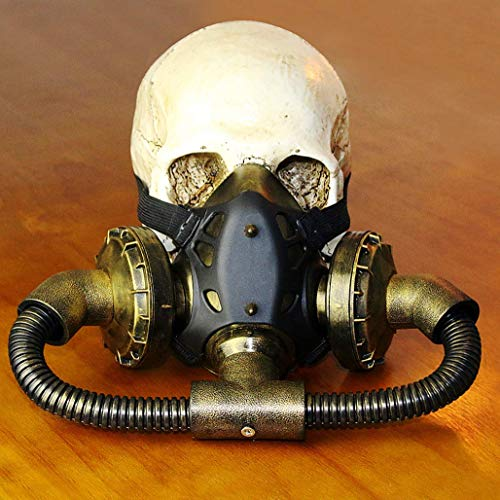 WFTD Steampunk Gas Mask, Death Mask Masquerade Cosplay Halloween Costume Props -