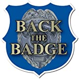 VictoryStore Yard Sign Outdoor Lawn Decorations: Back the Badge Yard Sign with Stakes