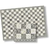 Dollhouse Flooring Grey & White Faux Marble Floor Tile by World Model