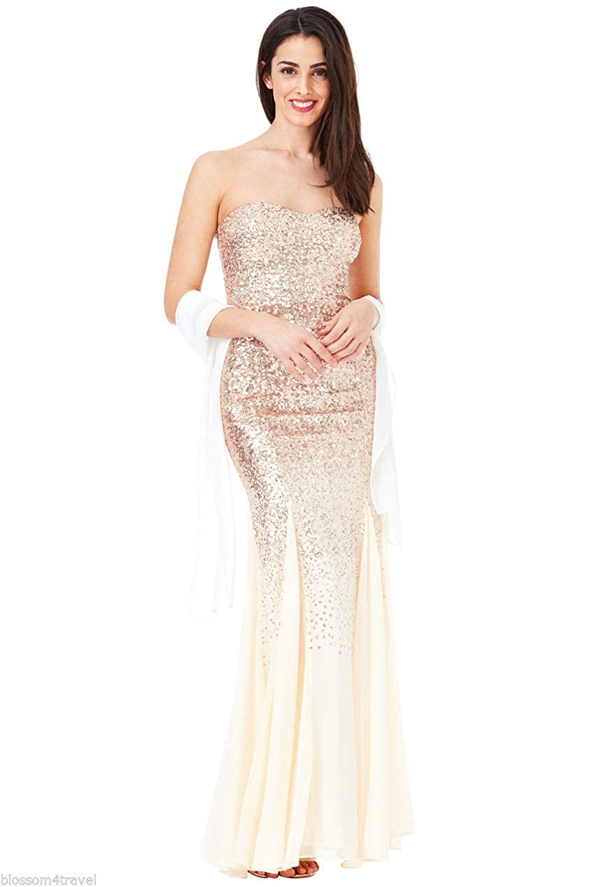 Sequin and Chiffon Dress