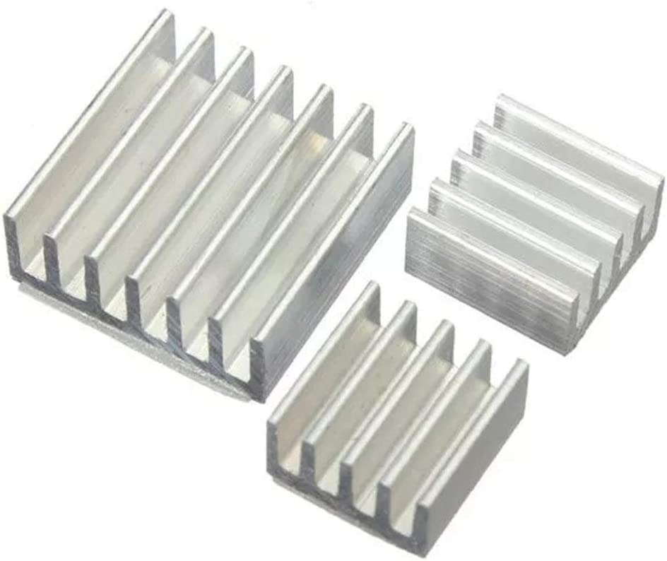Ctghgyiki 3pcs Aluminum Adhesive Heat Sink Cooler Kit for Cooling Raspberry Pi Module