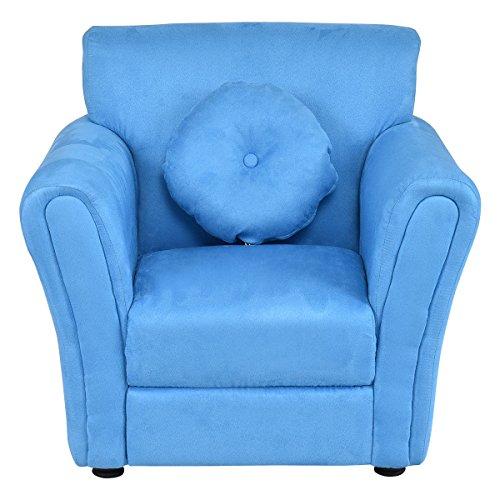 Costzon Kids Sofa Armrest Chair Children Living Room Furniture w/Pillow (Blue) by Costzon