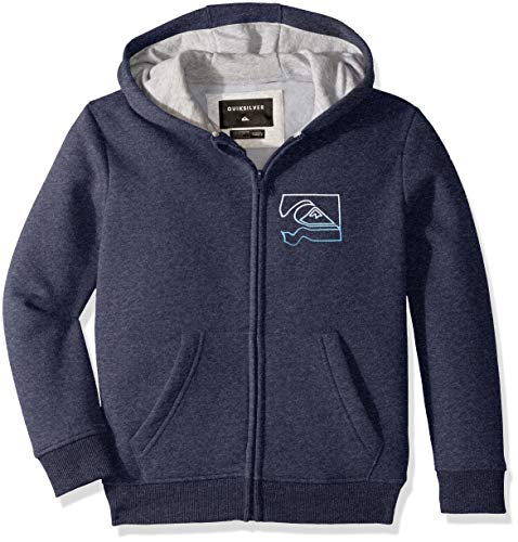 Quiksilver Boys' Big Diamond Zip Youth Fleece, Medieval Blue Heather, L/14