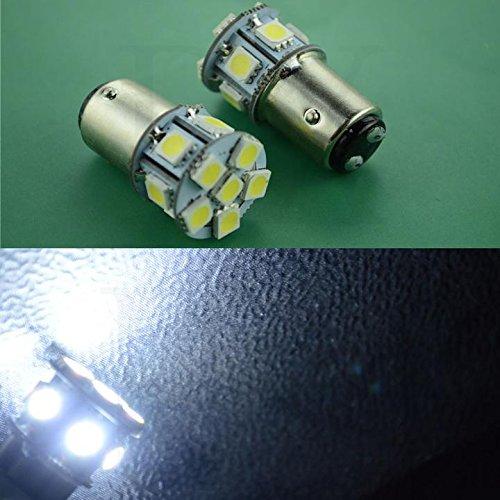 Light Dual Filament Replacement Bulb (2x 12v 1157 BAY15D Dual Filament 5050 12smd White Led Light bulb Use for Back Up Reverse Lights,Brake Lights,Tail Lights, 200 Lumens)