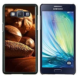 Qstar Arte & diseño plástico duro Fundas Cover Cubre Hard Case Cover para Samsung Galaxy A5 A5000 (Nueces)