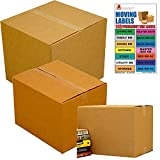 UBOXES Moving Box Combo Pack - 2 Smalls, 6 Mediums, 2 Larges, Moving Labels