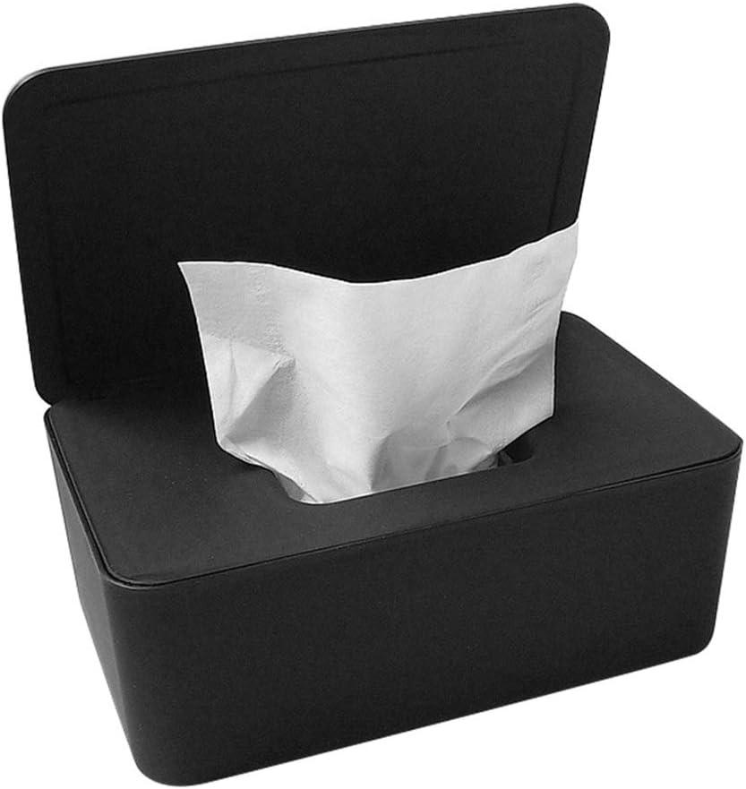 FzJs-J-in Dustproof Tissue Storage Box Case Wet Wipes Dispenser Holder with Lid for Home Office Desk