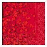 Ideal Home Range 20 Count 3-Ply Paper Lunch Napkins, Marimekko Lumimarja Red