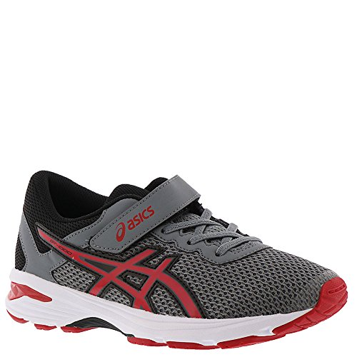 - ASICS GT-1000 6 PS Kid's Running Shoe, Stone Grey/Classic Red/Black, 1 M US Little Kid
