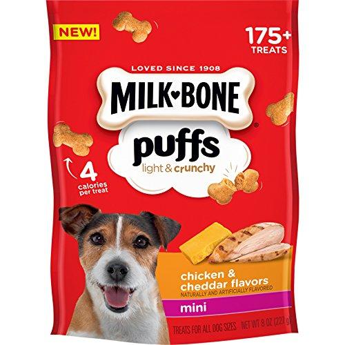 Milk Bone Puffs Chicken And Cheddar Mini Dog Treats, 8 Oz (Pack Of 4) ()
