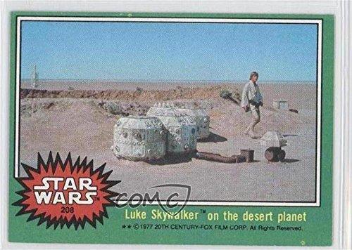 Luke Skywalker (Trading Card) 1977 Topps Star Wars - [Base] #208 ()