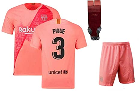 cheaper 97328 4b5c7 Amazon.com : ZZXYSY Pique #3 FC Barcelona Kids/Youths Third ...