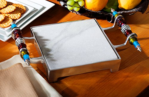 (Beaded Marble Cheese Serving Tray by KINDWER )