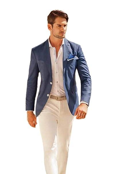 Amazon.com: TOPG Traje de hombre de 2 piezas, color azul ...