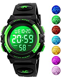 Kids Watch, Boys Sports Digital Waterproof Led Watches with Alarm Wrist Watches for Boy Girls