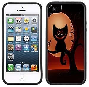 Smiling Cheshire Cat Handmade iPhone 5 5S Black Case by icecream design