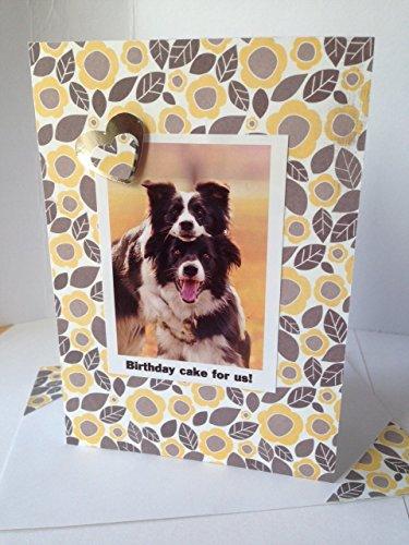 SHEEPDOG COLLIE dog GREETINGS Happy birthday dog CARD handmade Friendship card Cake card Thank you Congratulations A6/C6