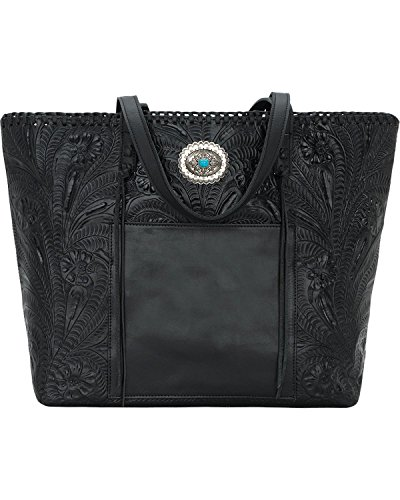 American West Women's Santa Barbara Large Shopper Tote Black One Size by American West