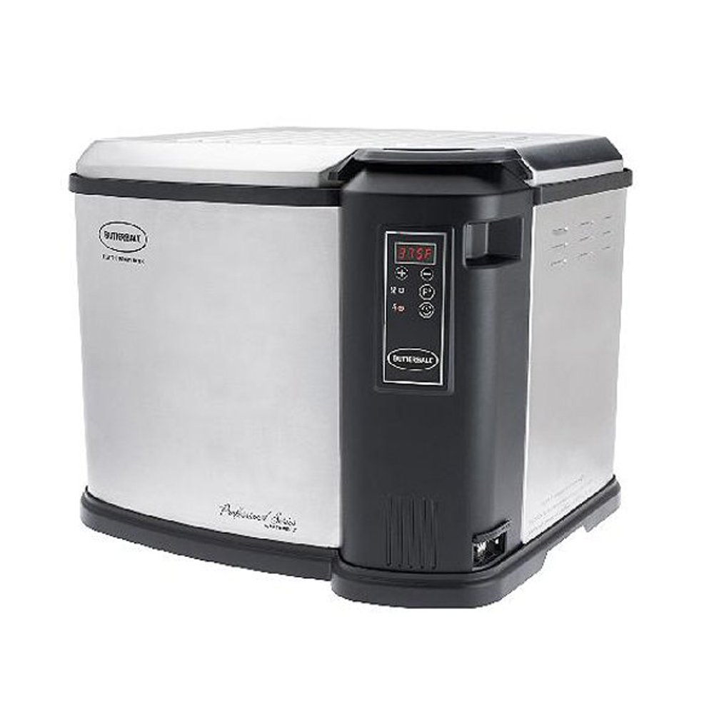 Butterball XXL Digital 22 lb. Indoor Electric Turkey Fryer, Steel and Black