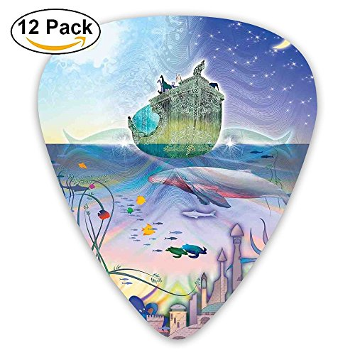 Newfood Ss Ancient Underwater With Octopus And Castle Pirate Ship Coral Reefs Fantasy Art Print Guitar Picks 12/Pack Set