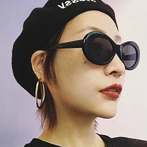 Lunettes Protection Designer Soleil UV400 amp; Soleil Noir Mode Lunettes Plage Vintage Classique Dames Ovale Lunettes De Gris Portable 8q6BY1