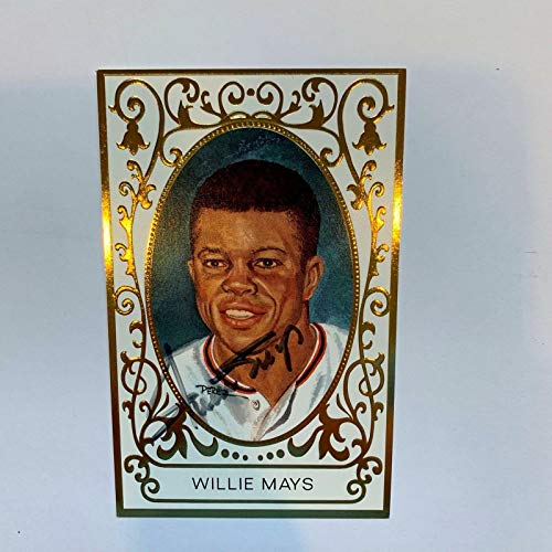 Willie Mays Signed Perez Steele Master Works Postcard With COA - JSA Certified - MLB Cut - Mays Willie Signature