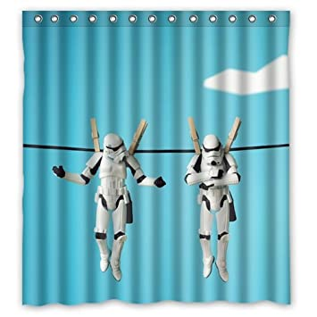 Scottshop Custom Star Wars Stormtroopers Shower Curtain Waterproof Polyester Fabric Bathroom Curtains 66quot X