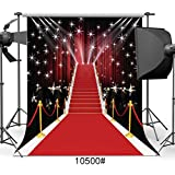 SJOLOON 10x10ft Red Carpet Vinyl Photography Backdrop Customized Photo Background Studio Prop 10500