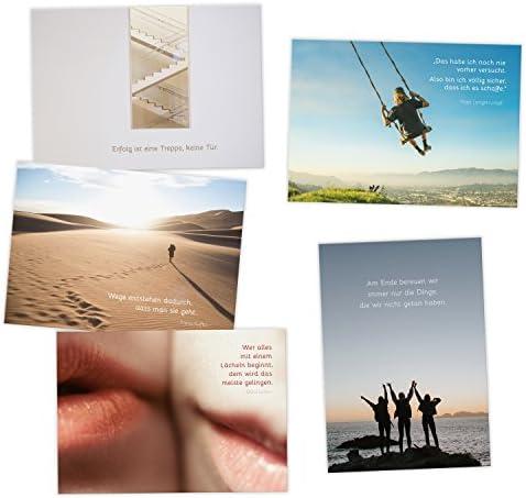 Sprüchen /& Zitaten 20er Postkarten Set FREUNDSCHAFT mit individuellen Motiven